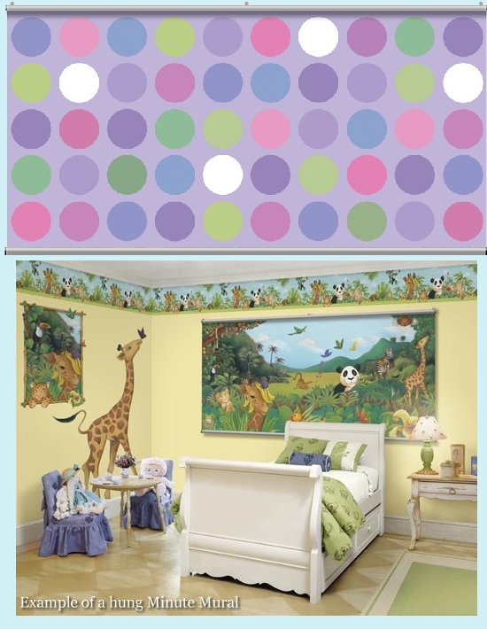 Big Dot Purple Minute Mural - Kids Wall Decor Store