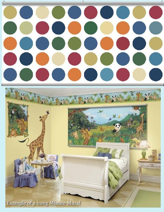 Big Dot White Minute Mural - Kids Wall Decor Store