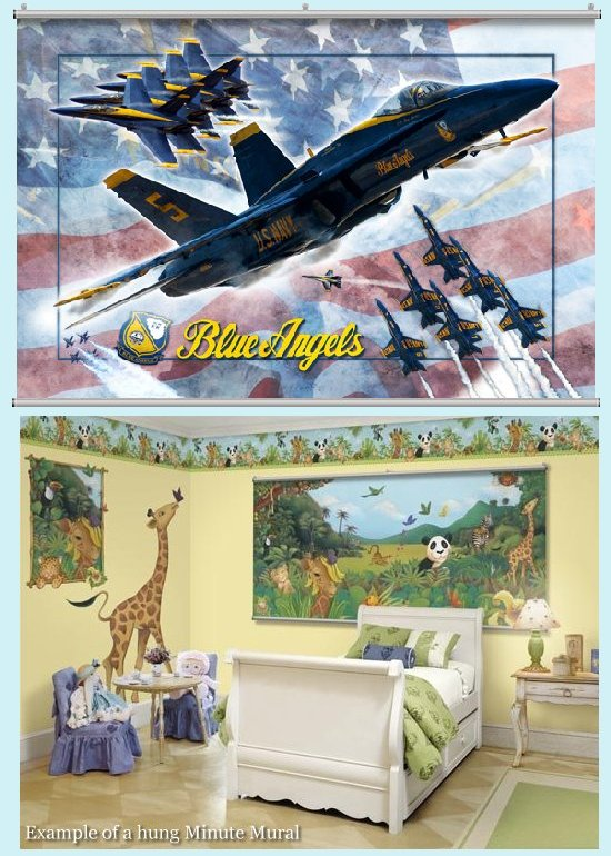 Blue Angels Minute Mural - Kids Wall Decor Store