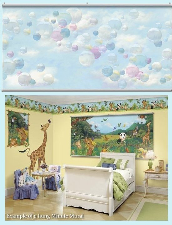 Bubbles Minute Mural - Kids Wall Decor Store