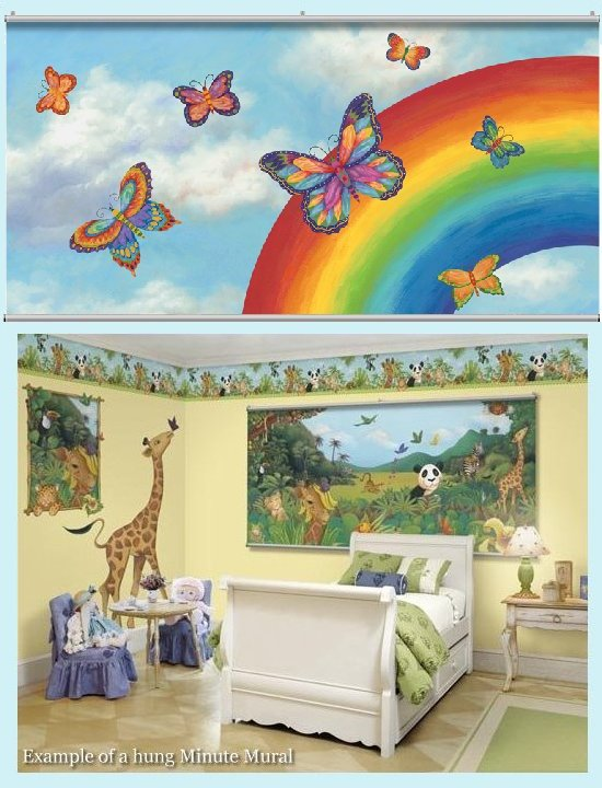 Butterflies Minute Mural - Kids Wall Decor Store