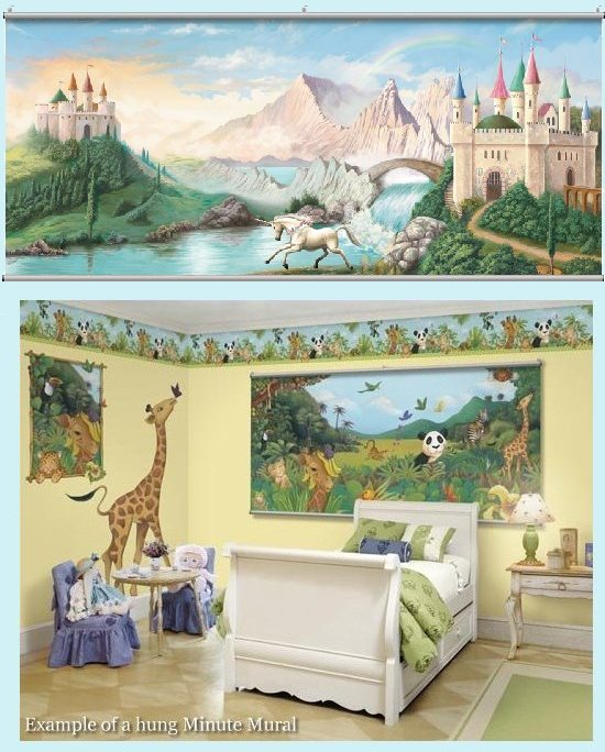 Castle Minute Mural - Kids Wall Decor Store