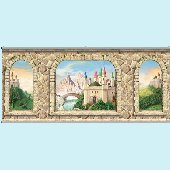 Castle Stone Wall Minute Mural