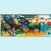 Colorful 3D Safari One Wall Minute Mural