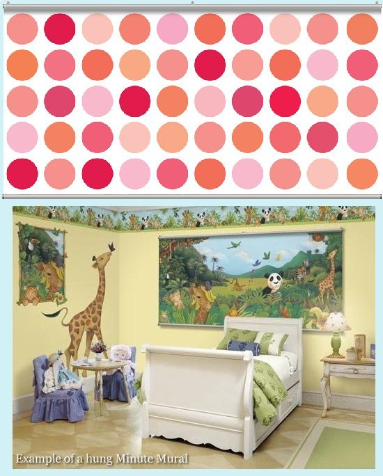 Big spot cotton candy light wall minute mural kids wall for Candy wall mural