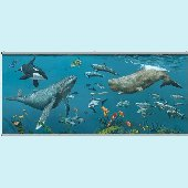 Deep Sea Whales Wall Minute Mural