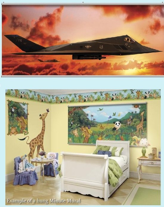 F17 Sundown Wall Minute Mural - Kids Wall Decor Store