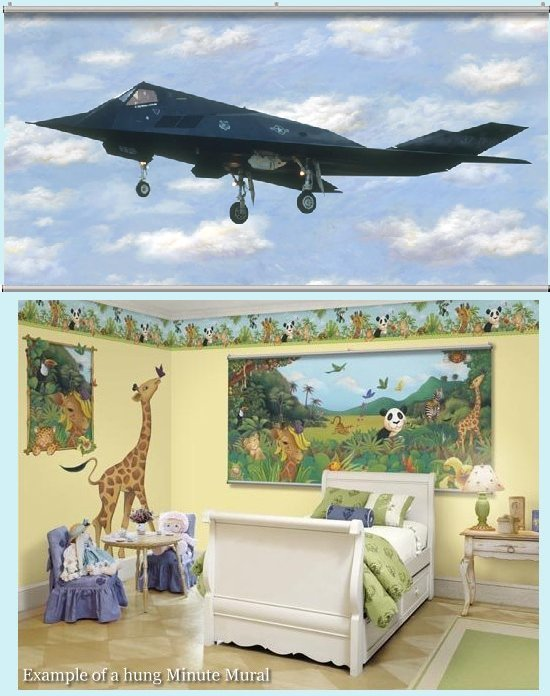 F17 Stealth Wall Minute Mural - Kids Wall Decor Store