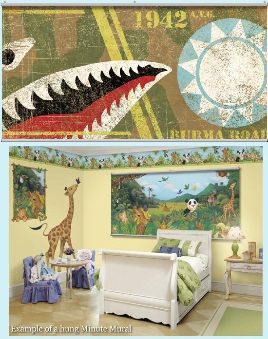 Flying Tiger Wall Minute Mural - Kids Wall Decor Store