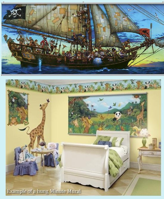Forty Thieves Wall Minute Mural - Kids Wall Decor Store