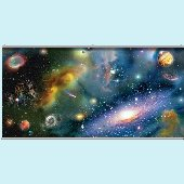 Galaxy Wall Minute Mural