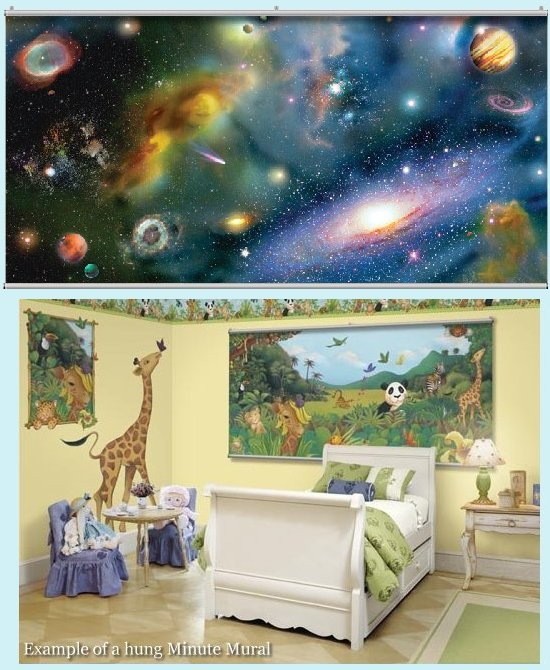 Galaxy Wall Minute Mural - Kids Wall Decor Store