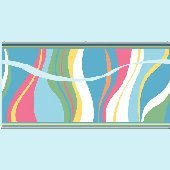 Groovy Wave Aqua Wall Minute Mural