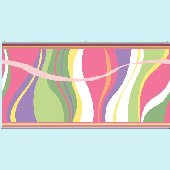 Groovy Wave Pink Wall Minute Mural