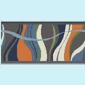 Groovy Wave Slate Wall Minute Mural