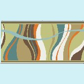 Groovy Waves Teal Wall Minute Mural