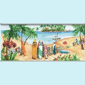 Island Time Wall Minute Mural