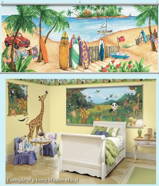 Island Time Wall Minute Mural - Kids Wall Decor Store