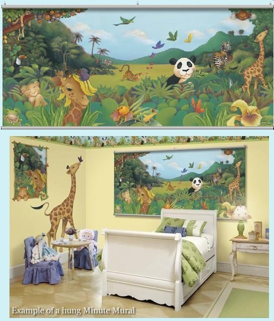 Jungle One Wall Minute Mural - Kids Wall Decor Store