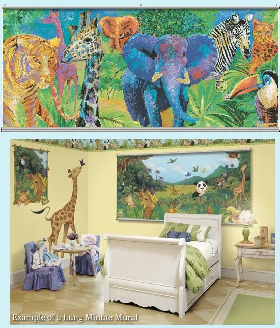 Jungle Two Wall Minute Mural - Kids Wall Decor Store