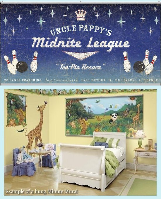 Midnight League Wall Minute Mural - Kids Wall Decor Store