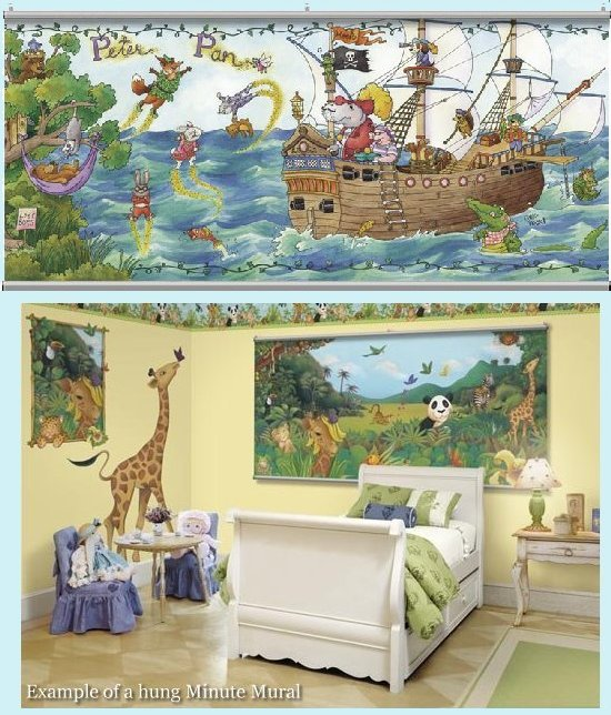 Once Upon a Time  Peter Pan Wall Minute Mural - Kids Wall Decor Store