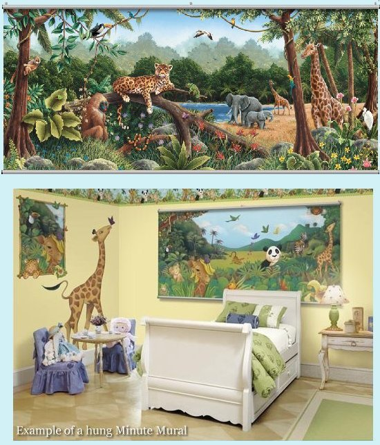Rainforest Wall Minute Mural - Kids Wall Decor Store