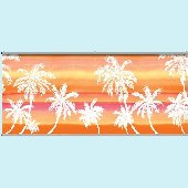 Retro Palm Pink Wall Minute Mural
