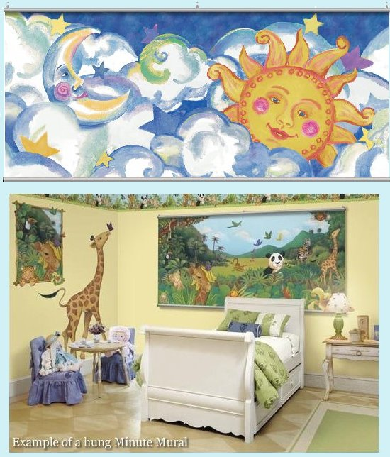 Sun and Moon Wall Minute Mural - Kids Wall Decor Store