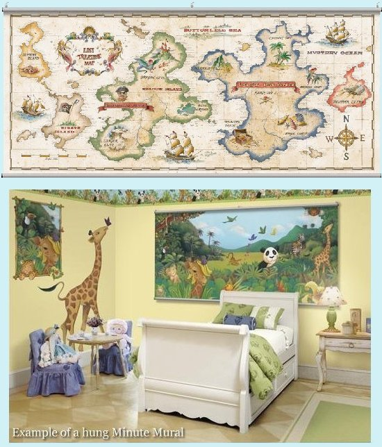 Treasure Map  Wall Minute Mural - Kids Wall Decor Store
