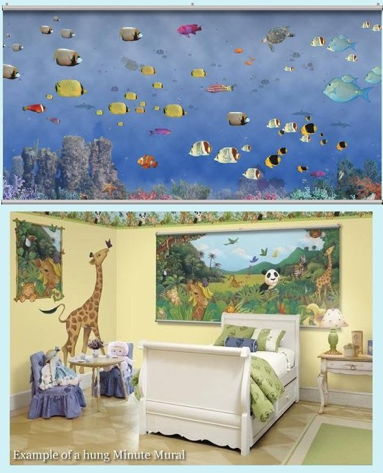 Tropical Underseas Wall Minute Mural - Kids Wall Decor Store
