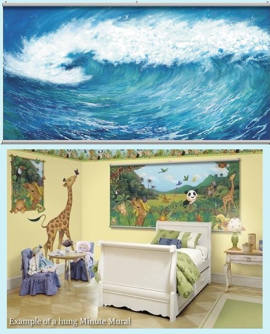 Wave Wall Minute Mural - Kids Wall Decor Store