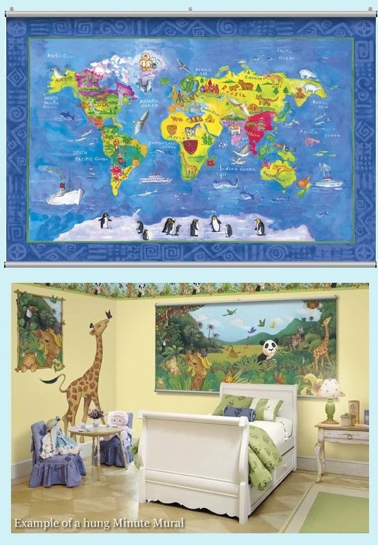 map wallpaper kids. world map wallpaper mural.
