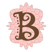 Mod Monogram B Wall Sticker in 6 Colors