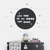 I Love You To The Moon Wall Decal Custom Colors
