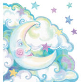 Moon Peel and Stick Wall Mural in 4 Colors