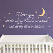 I Love You All The Way Wall Decal Custom Colors