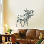 Sudden Shadows Moose Wall Sticker