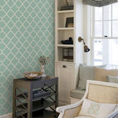 Moroccan Mint Peel and Stick Wallpaper