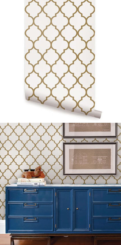 Moroccan Gold Peel And Stick Wallpaper