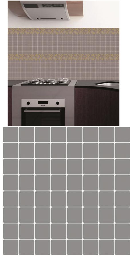 Metallic Gray Adhesive Wall Tiles - Wall Sticker Outlet