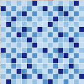 Mosaic Blue Adhesive Wall Tiles