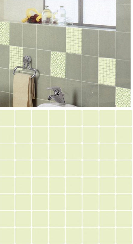Mosaic Light Green Adhesive Wall Tiles - Wall Sticker Outlet