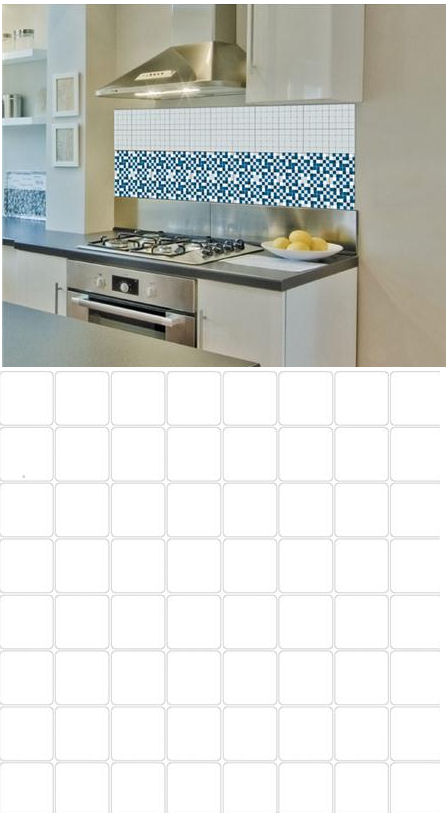 Mosaic White Adhesive Wall Tiles - Wall Sticker Outlet