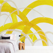 Minted Mountain Sunshine Repositionable Wall Mural