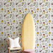 Urbanwalls Mr Rabbit Garden Wildflower Wallpaper