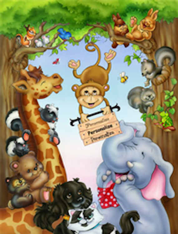 Animal Laughs 2 Mural - Wall Sticker Outlet