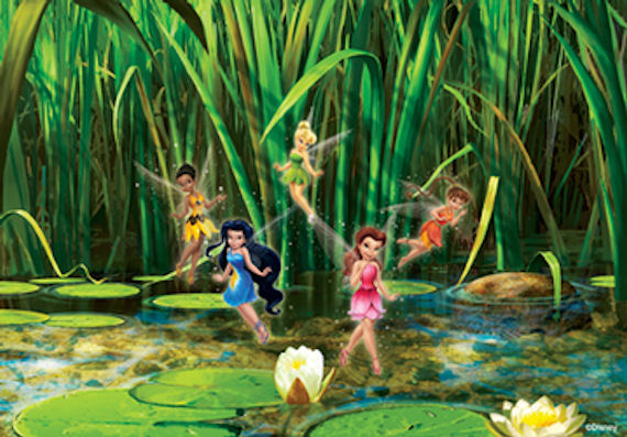 Disney tinker bell flutter friends mural for Disney fairies wall mural