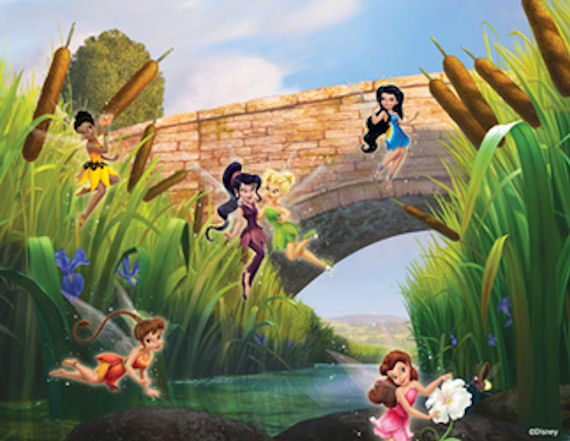 Disney spirited and spunky mural for Disney tinkerbell mural