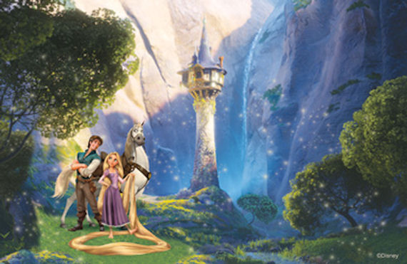 Disney Tangled Let Your Hair Down  Mural - Wall Sticker Outlet